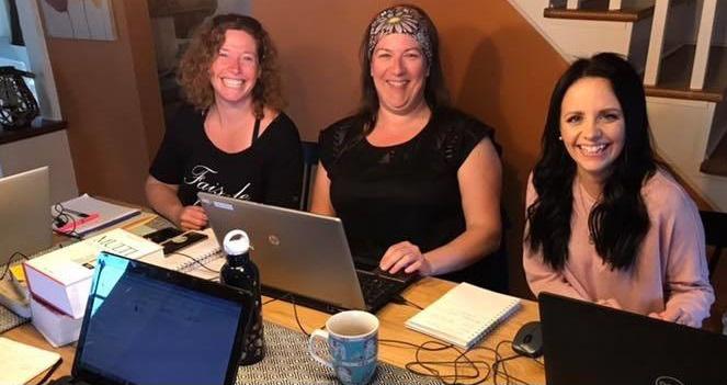 Andrée, Mélissa et Leslie, rédactrices de l'édition 2018-2019